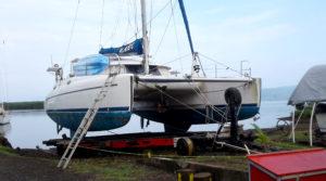 Catamaran Haulout in Fiji